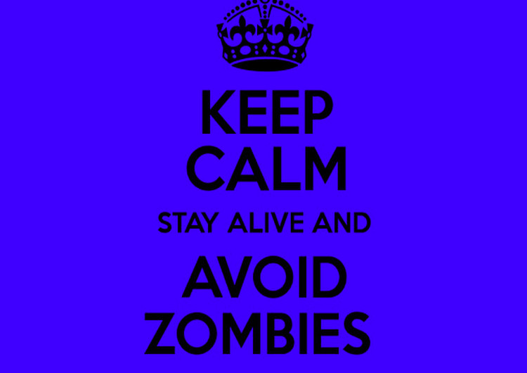 Keep Calm Avoid Zombies Poster