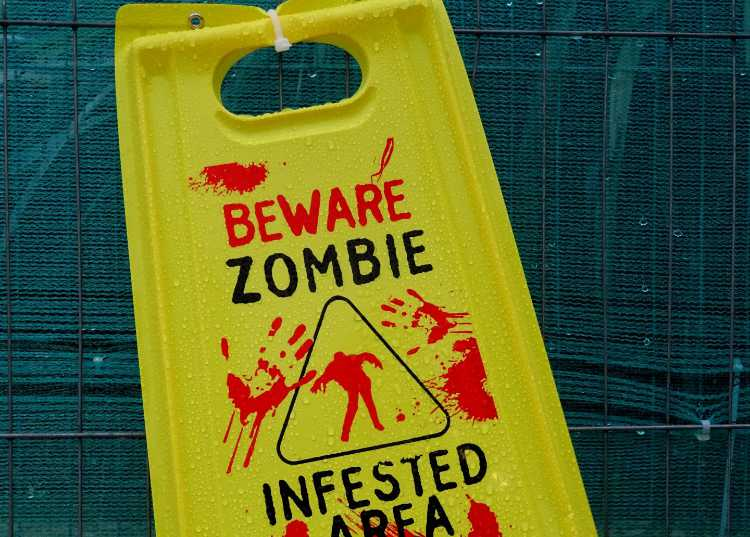 Zombie Infested Area Warning